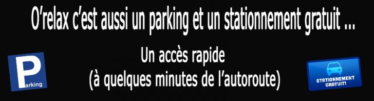 orelax acces et parking, Venir au sauna orelax